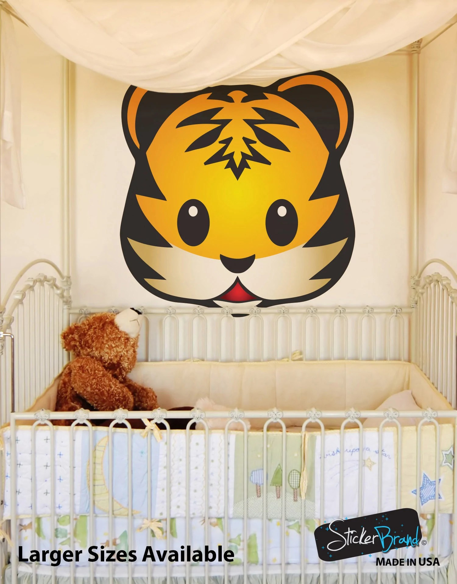 7 Large Emoji Animal Faces Wall Graphic Decal Sticker #6057