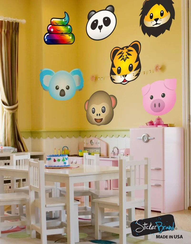Emoji Wall Stickers Bedrooms