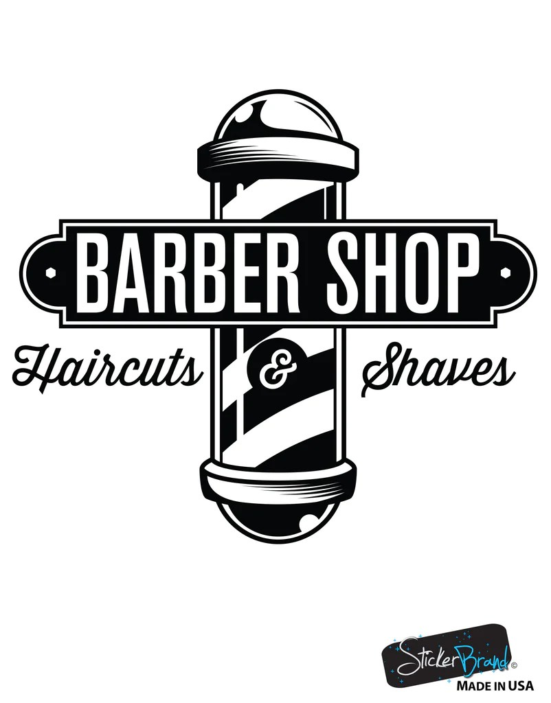 barbershop sign haircuts and shaves