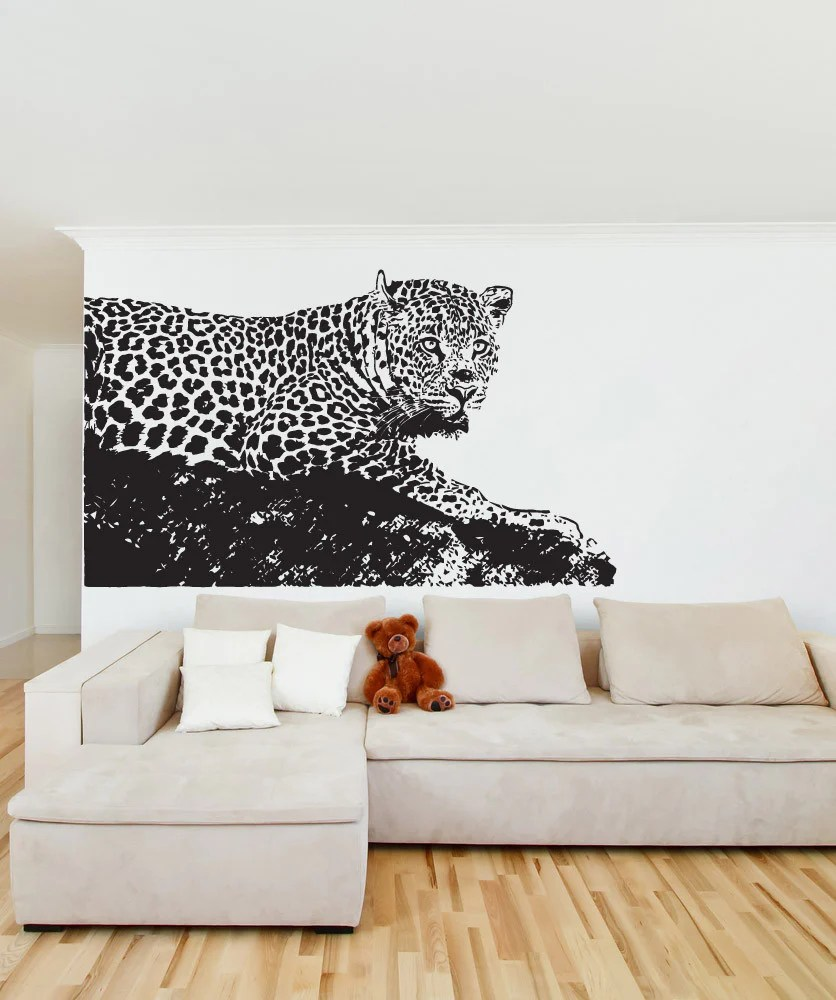 Leopard Wall Decal Safari Wildlife Home Decor Os Aa654