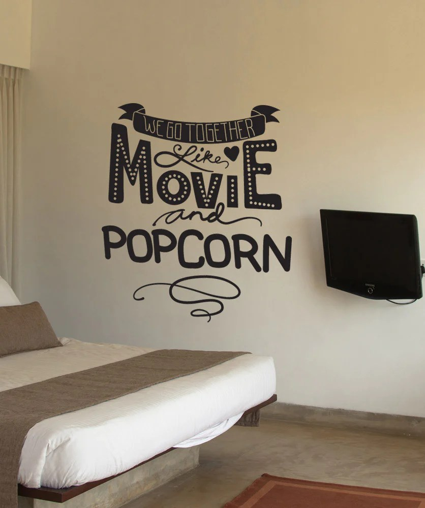 Vinyl Wall Decal Sticker Movie and Popcorn OS_DC590