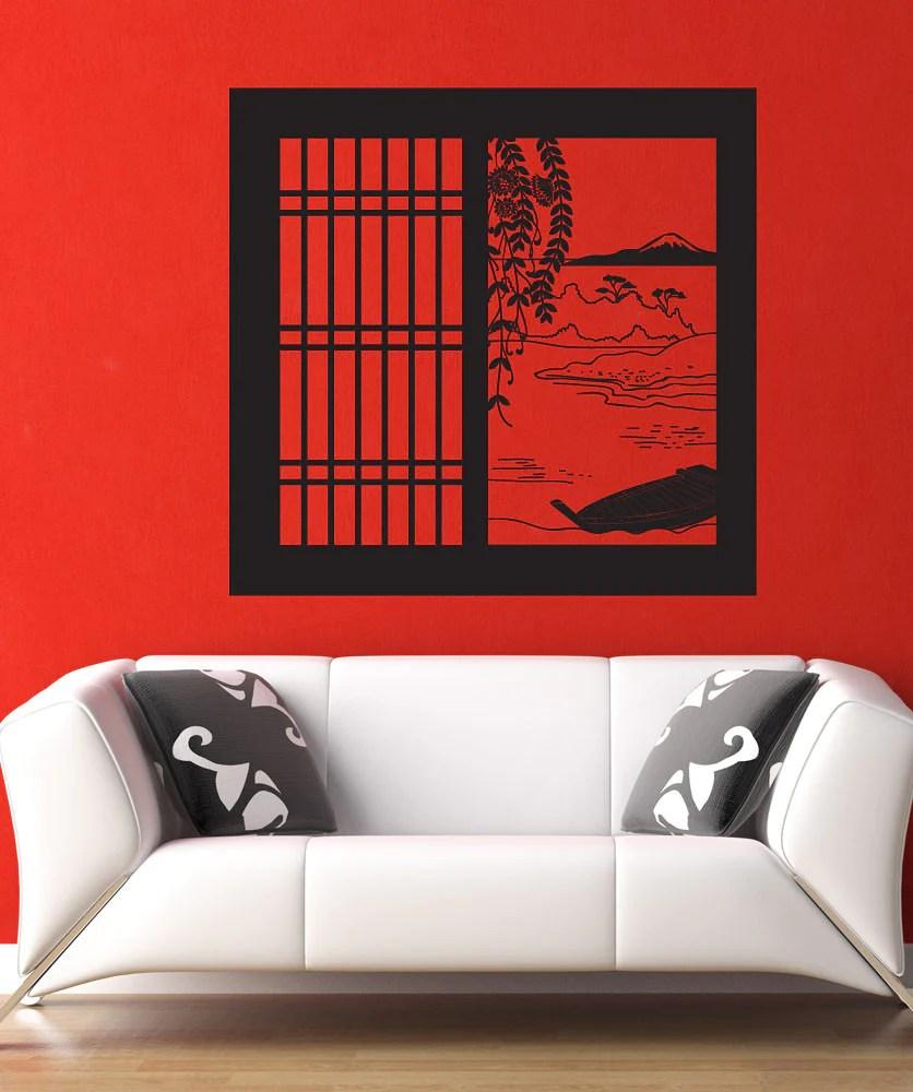 Vinyl Wall Decal Sticker Japanese Window View Os Dc684