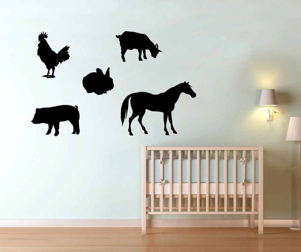 vinyl wall decal sticker barn animals os mg