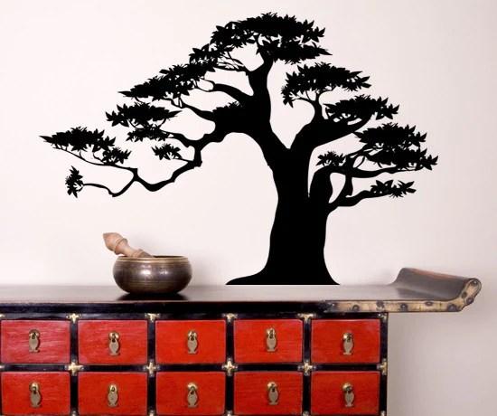 Vinyl Wall Decal Sticker Bonsai Tree 2 Ac150