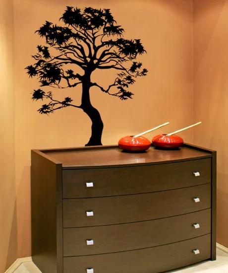 Vinyl Wall Decal Sticker Bonsai Tree Ac149