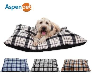 aspen pet 29x40 traditional plaid pillow bed