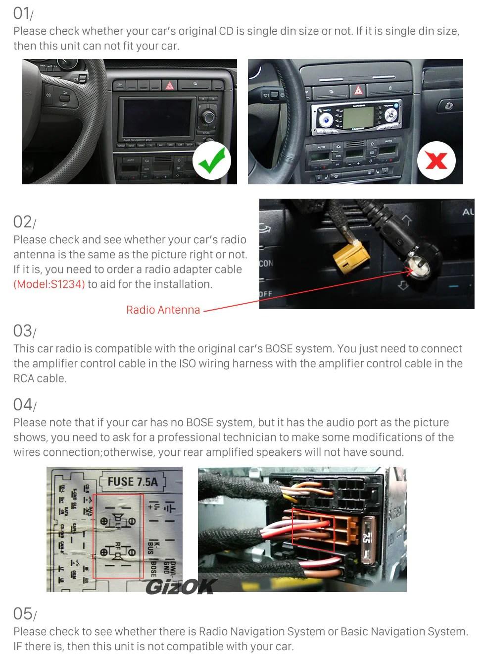Adapter Audi Bose System