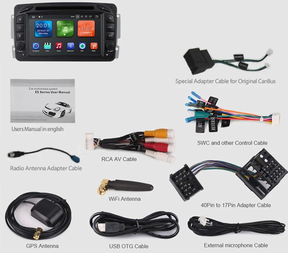 hight resolution of mercedes benz c class w203 android car stereo