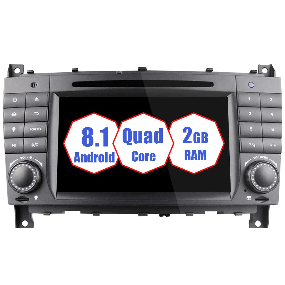 medium resolution of 2004 2007 mercedes benz c class w203 android car stereo