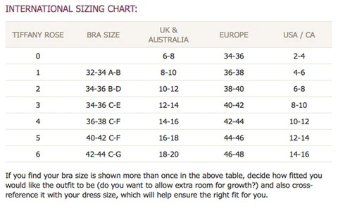 Tiffany rose size guide also sizing info shop canada for stylish maternity clothes online free ship rh lunamaternity