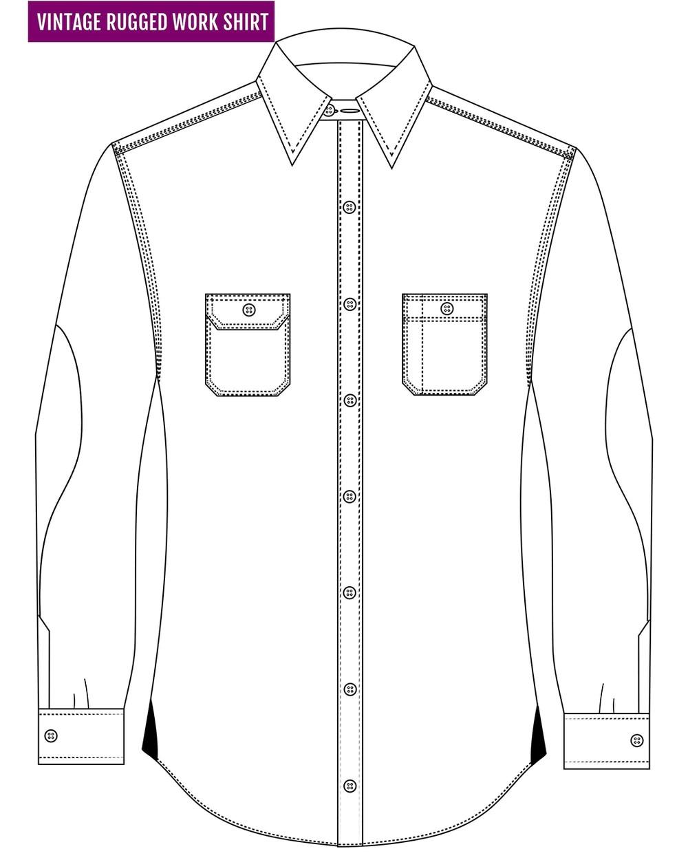 navy shepherd check on grey flannel work shirt [ 1000 x 1350 Pixel ]