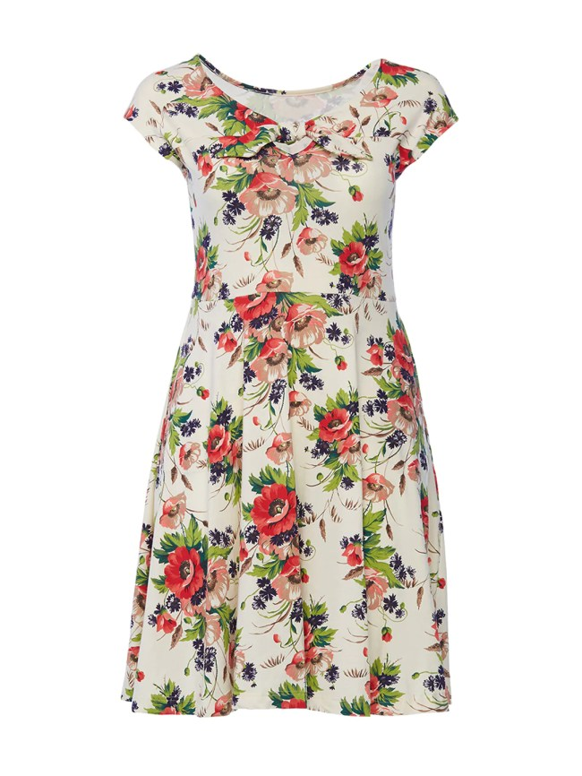 Floral Print Demoiselles Dress