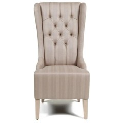 High Back Dining Chair Ikea Ektorp Jennylund Cover Wingback Tufted Upholstery Canvas Highback With