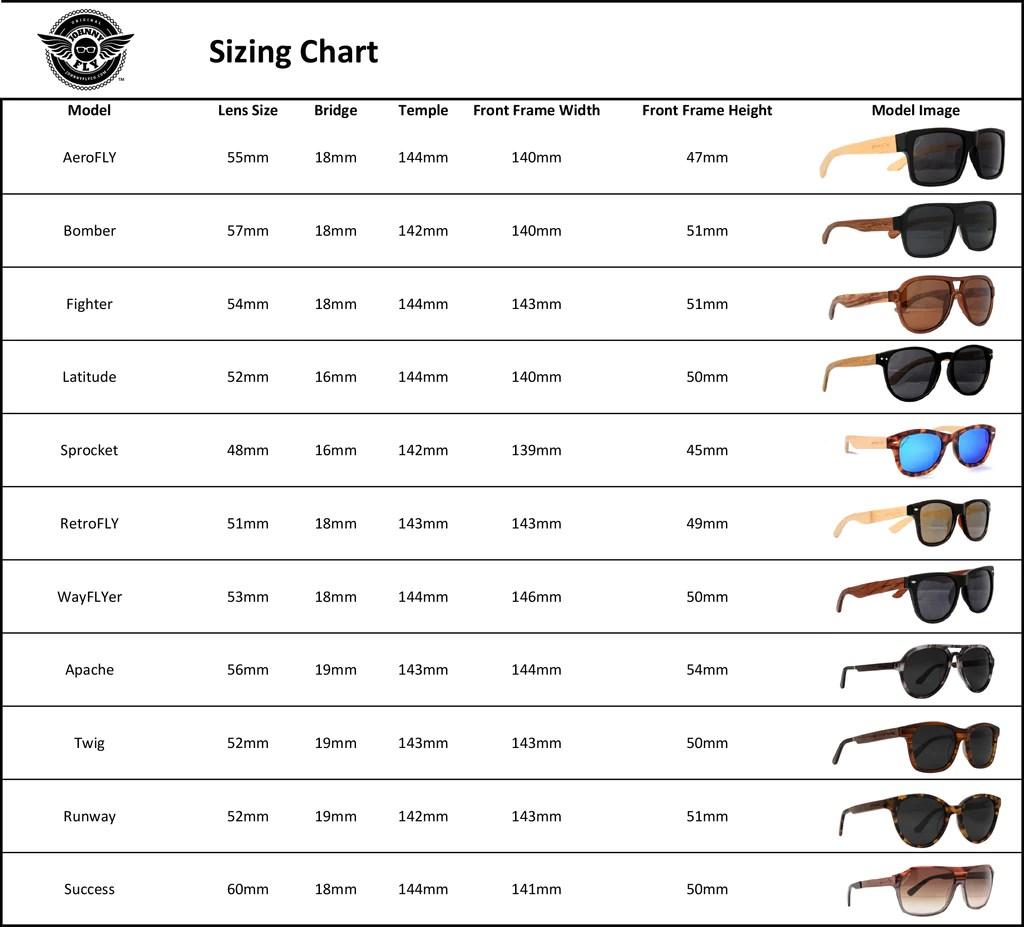 Rayban Sunglass Size Chart Homeschoolingforfree