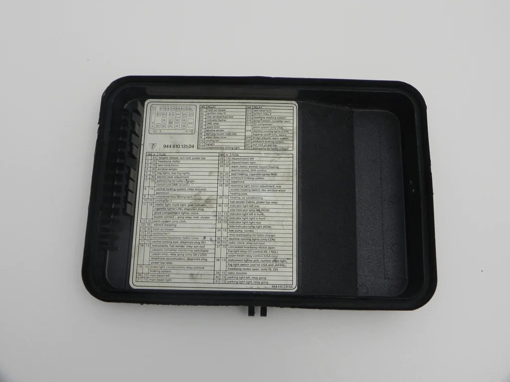 medium resolution of  used 944 fuse box cover 1982 91