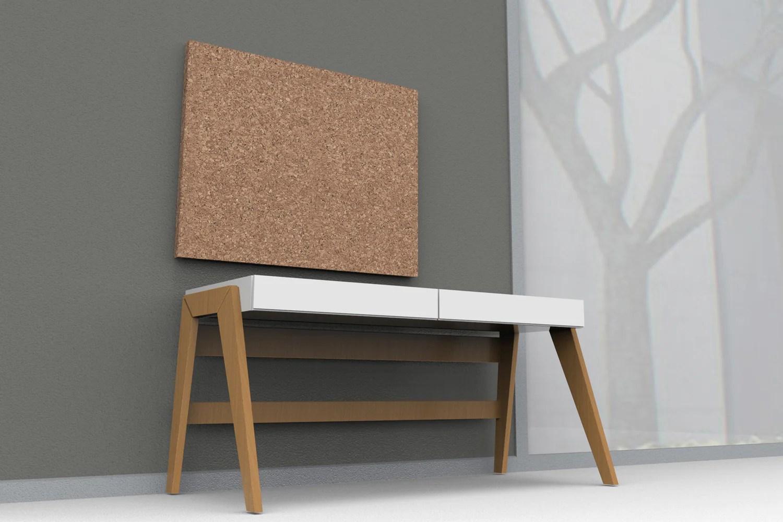 """Designer Cork Frameless Bulletin Board 36""""x 46"""" Iceberg"""