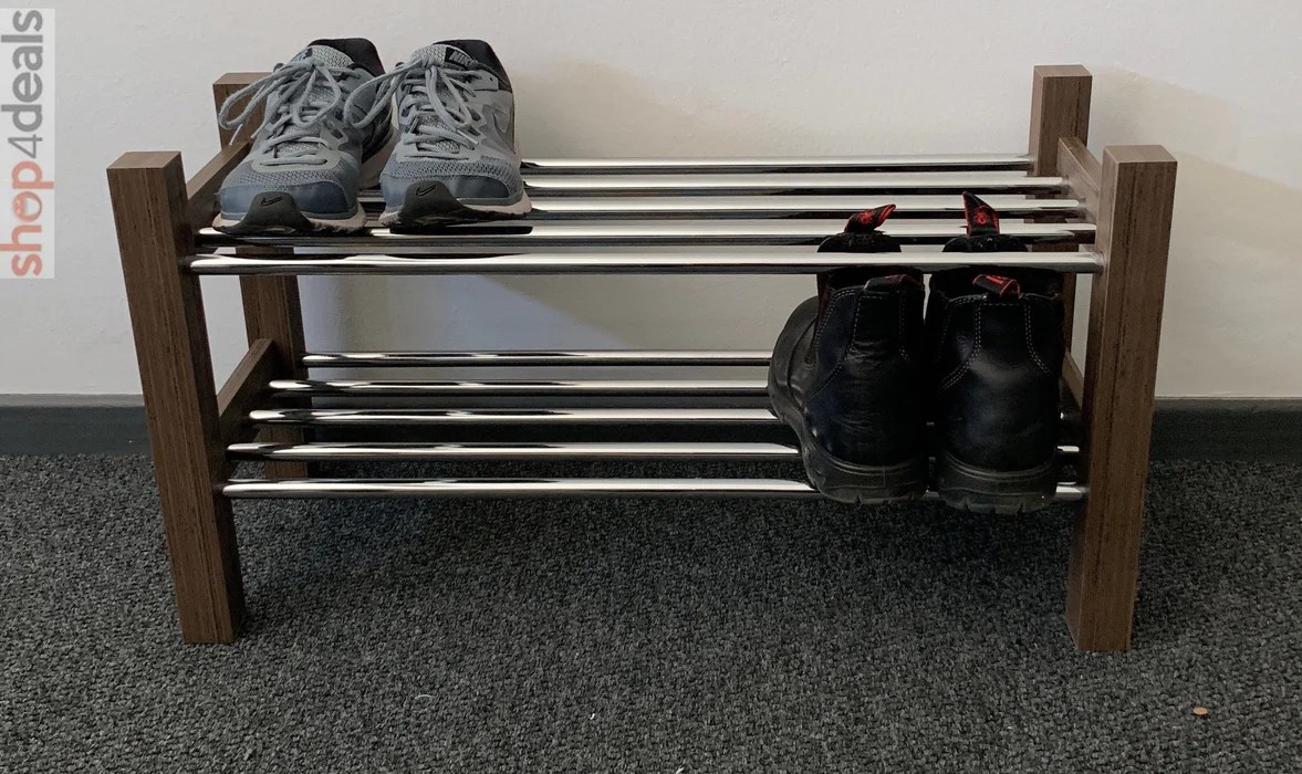 hello home shoe rack dark wood