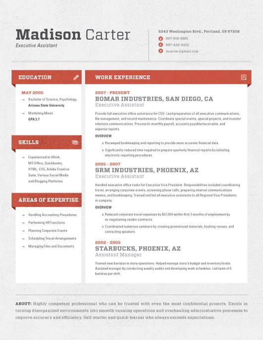 Resume Template Cubes Red Loft Resumes