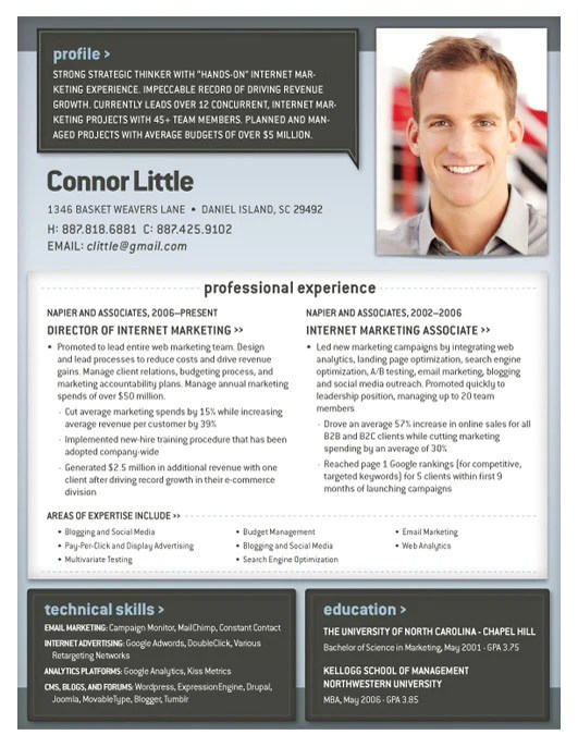 Resume Template Geneva Blue And Grey Loft Resumes