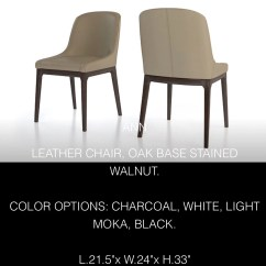 Genuine Leather Chair Covers For Valentines Day Colibri Ann Side Eurohaus Modern Furniture
