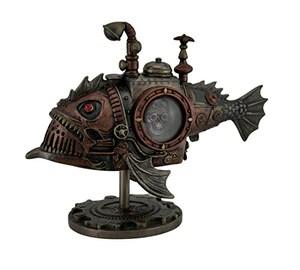Veronese Hand Painted Steampunk Submarine Sci-fi Fantasy Statue