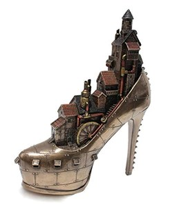 Steampunk Stiletto Hill Ironopolis Cold Cast Bronze 10 Inch
