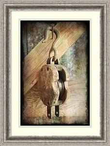 Framed Art Print 'Block & Tackle IV' by John Butler