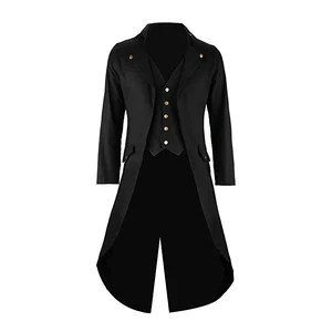 Mens Black Tailcoat Jacket