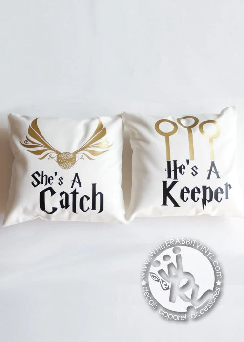 Catch And Keeper Pillow Case Set White Rabbit Vinyl