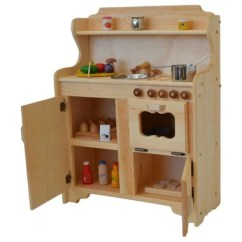 Solid Wood Toy Kitchen Outdoor Kitchens Houston Wooden Play Abbie S Deluxe Elves Angels