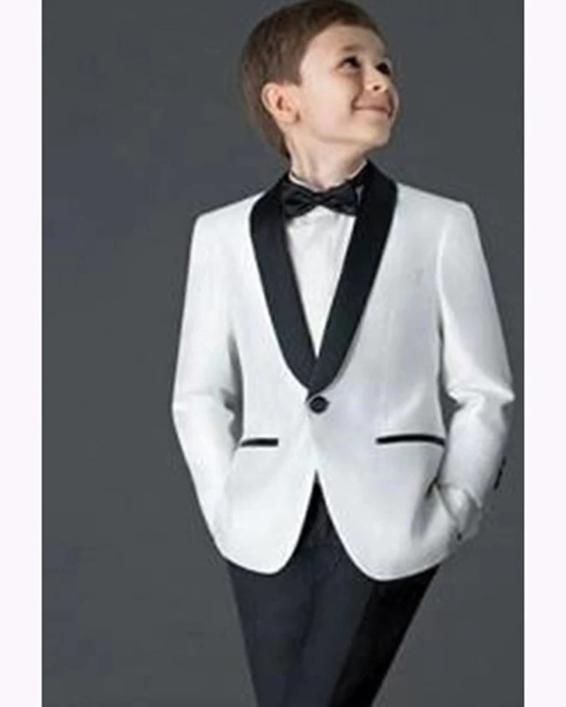 5b3f5e33b New Black White Little Boys Suits For Weddings Child Suit Tuxedo Prom Suits  Blazers For Boys Jacket Pants