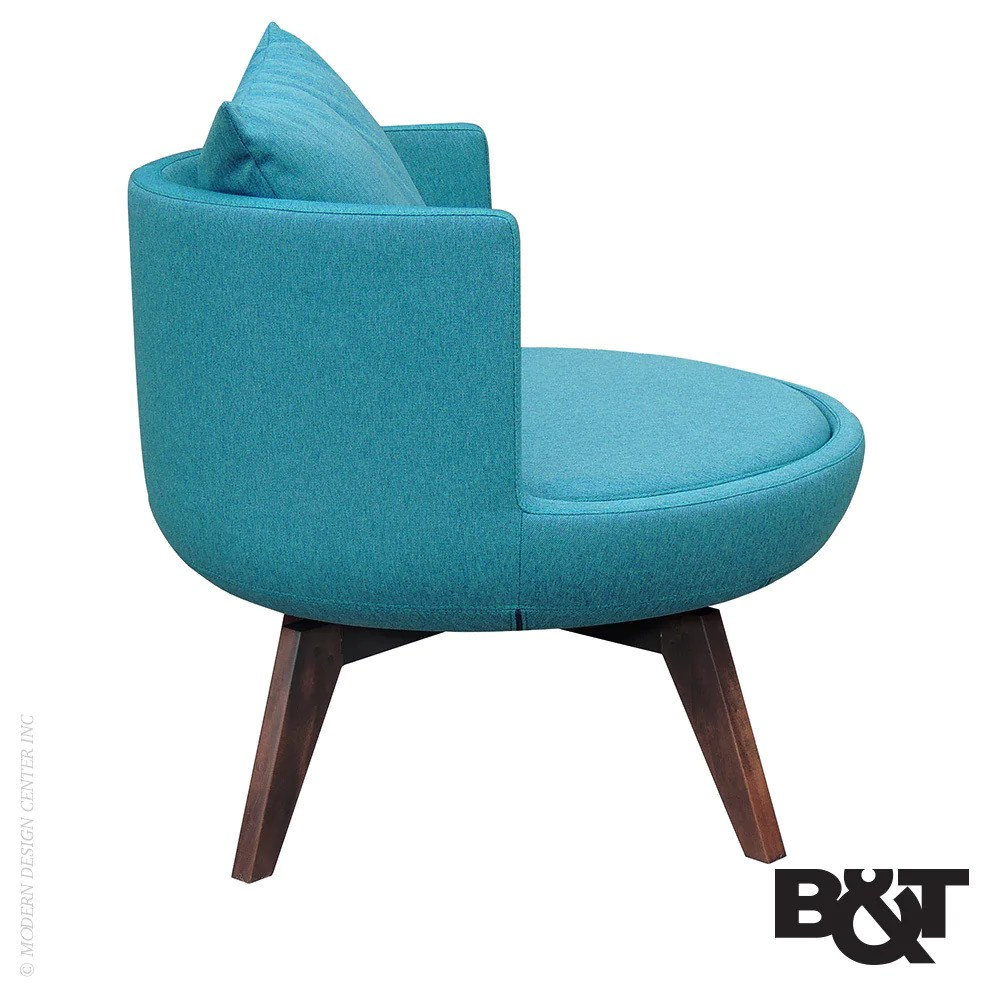 BT Round Lounge Chair Swivel Wood Base BT Lounge Chair
