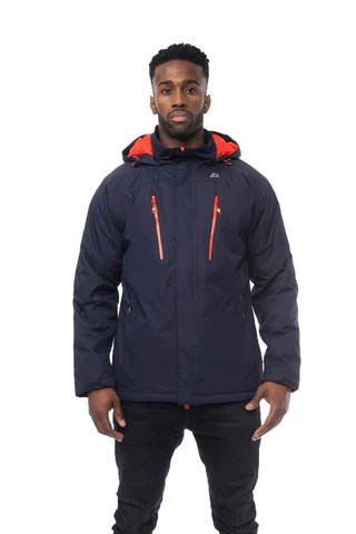 ATLAS Xtreme Series Mens Waterproof Insulated Coat in Navy