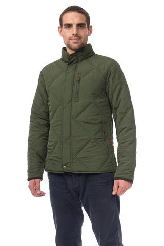 Target Dry Nixon Mens Waterproof Quilted Jacket, Duffel Green