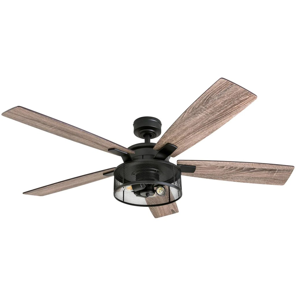 hight resolution of honeywell ceiling fans 50614 01 carnegie led ceiling fan 52 indoor rustic
