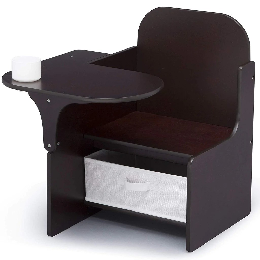 Delta Children Chair Delta Children Mysize Chair Desk With Storage Bin Dark Chocolate