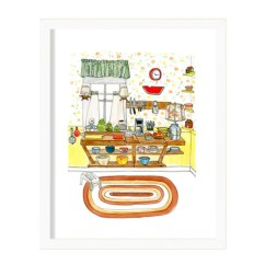Kitchen Prints Tall Narrow Cabinet Sue S Print