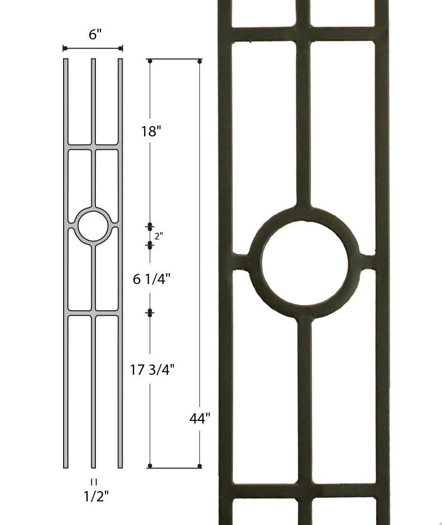hight resolution of three leg medallion 2933 stair parts