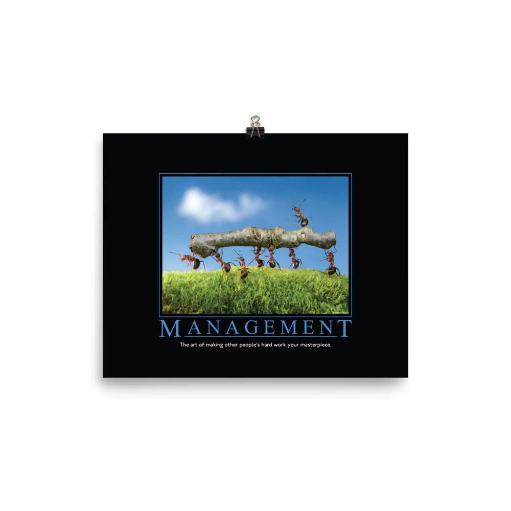 management demotivational poster