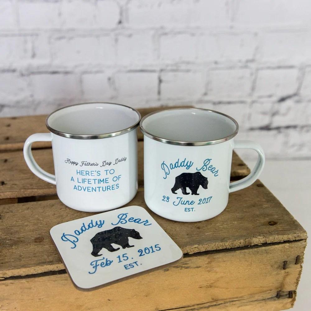 daddy bear ceramic enamel