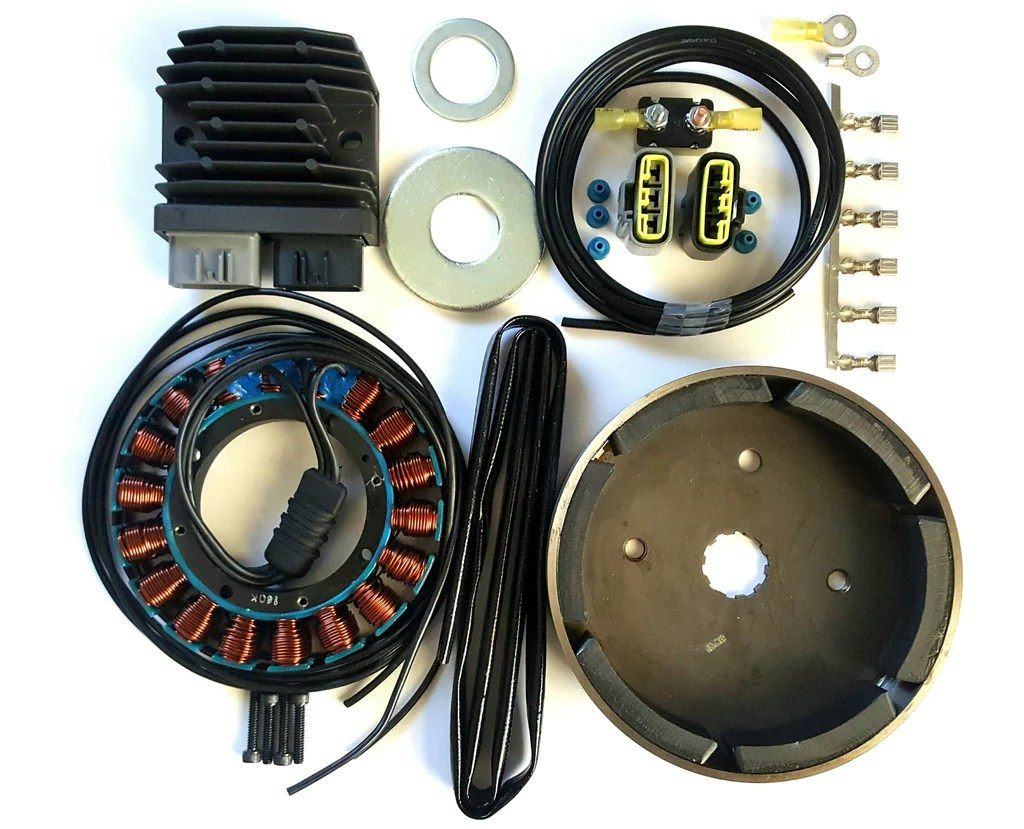 small resolution of  harley evo shovelhead 38amp 3 phase charging system upgrade mosfet on harley wiring harness diagram