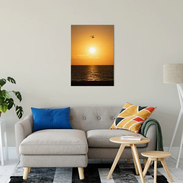 Flying High at Sunset landscape photograph as a limited edition, collectible signed museum quality canvas wall art print.