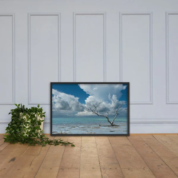 Wanderlust Traditional Color Coastal Landscape Photo Framed Paper Poster - Wall Decor - Artwork - Art