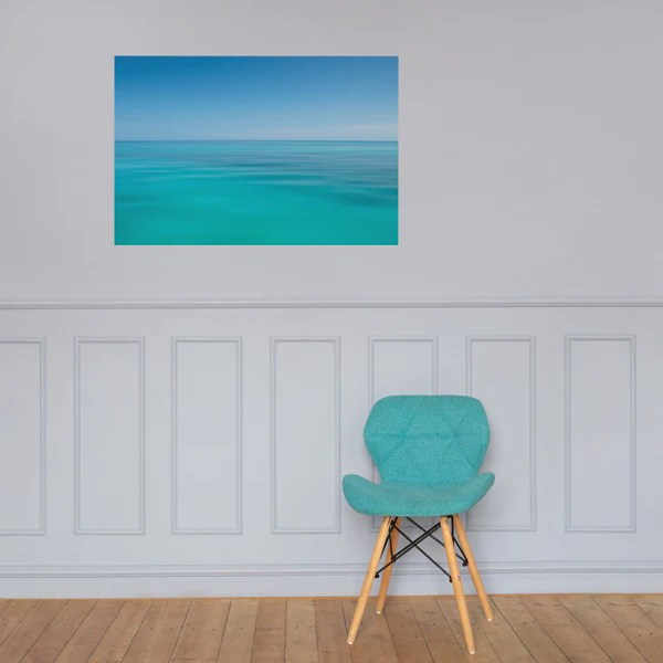 Colors of The Tropical Sea Abstract landscape photograph as a loose (unframed) wall art print poster
