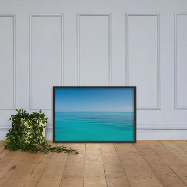 Colors of The Tropical Sea Abstract landscape photograph as a framed 24 x 36 wall art print