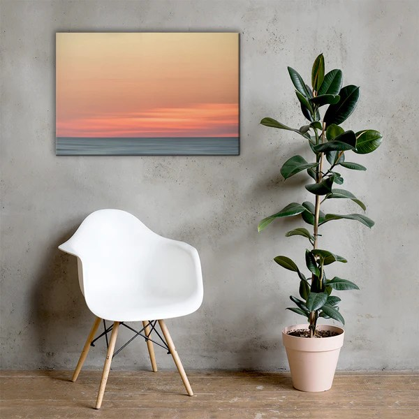 Abstract Color Blend Ocean Sunset as a classic wall decorating canvas print