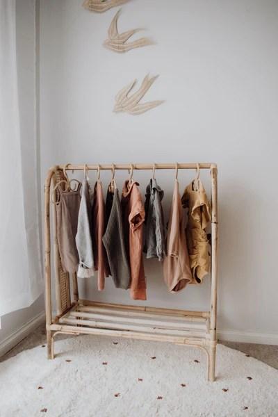 margot rattan clothes rack
