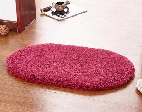tapis salle de bain forme ovale