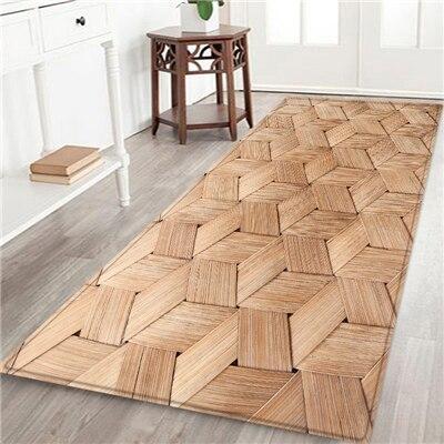 tapis de cuisine imitation bois
