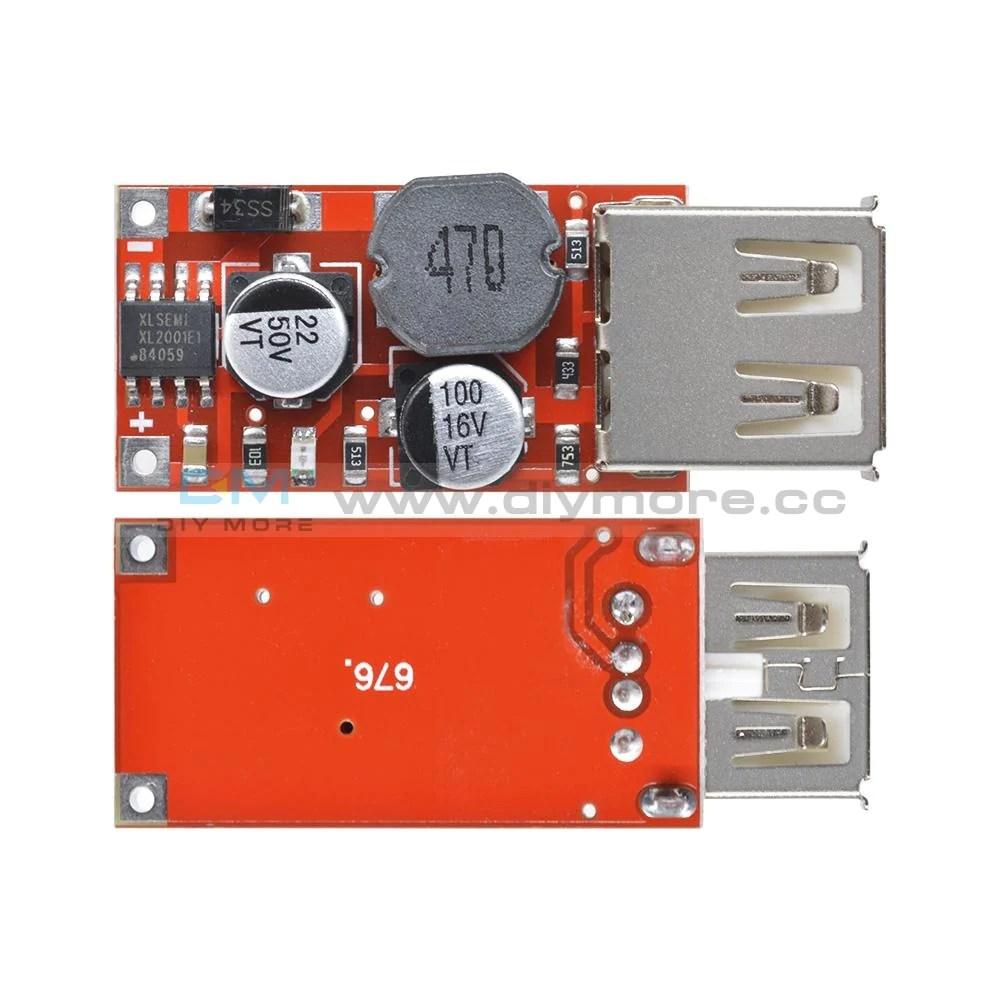 9V/12V/24V to 5V DC-DC Step Down Car Charging 3A Output USB Module Diy – diymore